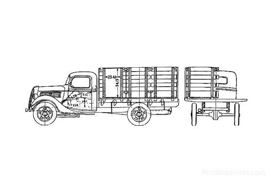 Ford Platform Truck 1937