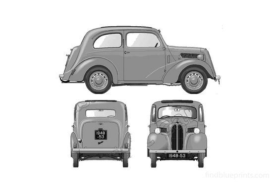 Ford Popular 103E Sedan 1953