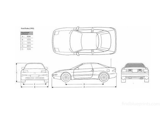 Ford Probe Coupe 1993