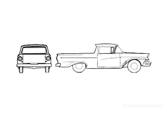 Ford Ranchero Pick-up 1957