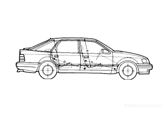 Ford Scorpio Hatchback 1989