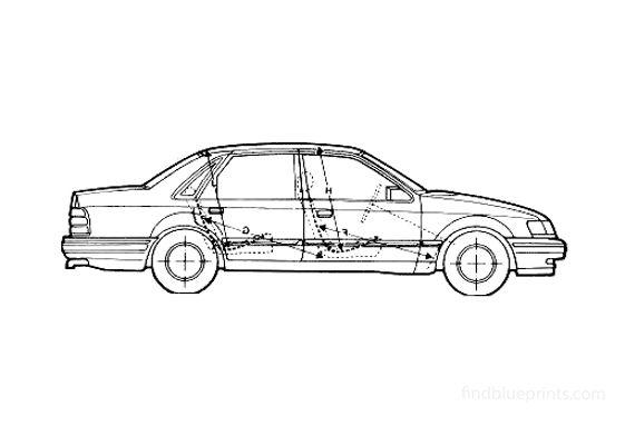 Ford Scorpio Sedan 1989