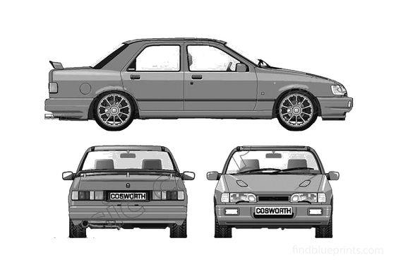 Ford Sierra Sapphire Cosworth 4x4 Sedan 1992
