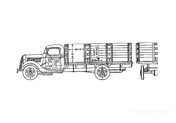 Ford Srake Truck 1937