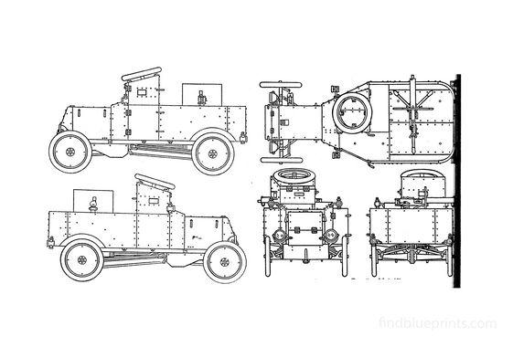 Ford T Truck WW1 Truck 1914