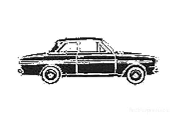Ford Taunus 12M (P4) Sedan 1964