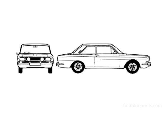 Ford Taunus 15M (P6) RS 2-door Sedan 1969