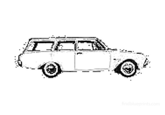 Ford Taunus 17M (P3) Turnier Wagon 1964
