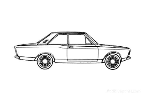 Ford Taunus 17M (P7) Sedan 1967
