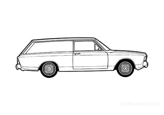 Ford Taunus 17M (P7) Van 1967