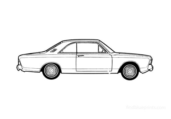 Ford Taunus 17M (P7) Hard Top Coupe 1967