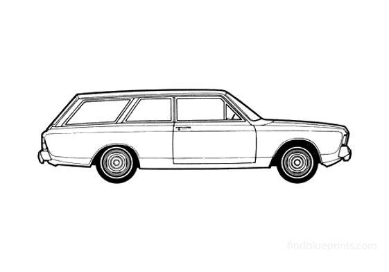 Ford Taunus 17M (P7) Turnier Wagon 1967