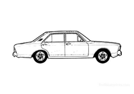 Ford Taunus 17M (P7B) RS Sedan 1969