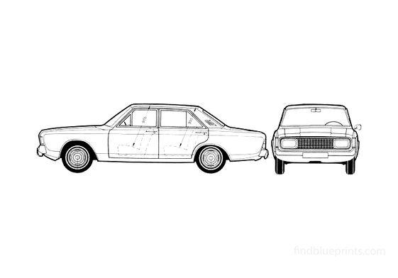 Ford Taunus 17M P7 A Sedan 1969