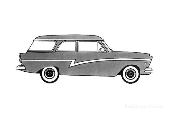 Ford Taunus 17M Turnier Wagon 1957