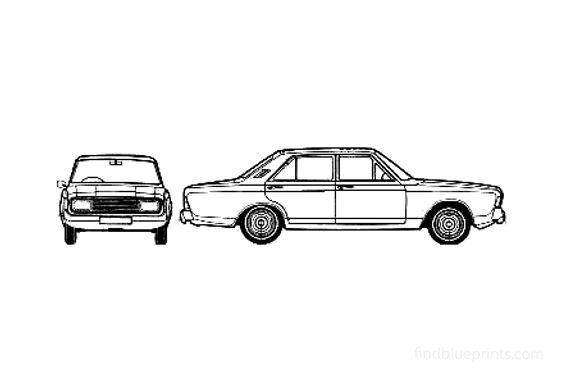 Ford Taunus 20M (P7B) Sedan 1970