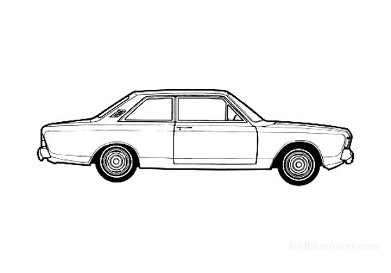 Ford Taunus 20M (P7B) 2-door Sedan 1969