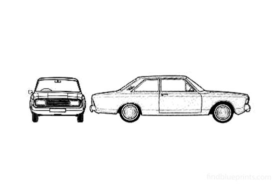 Ford Taunus 20M (P7B) 2-door Sedan 1970