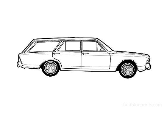 Ford Taunus 20M (P7B) Turnier Wagon 1969