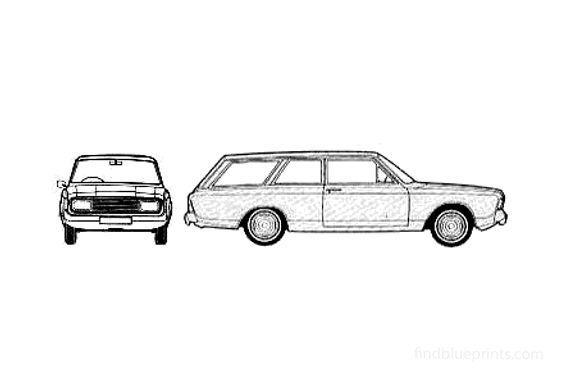 Ford Taunus 20M (P7B) Turnier 2-door Wagon 1970