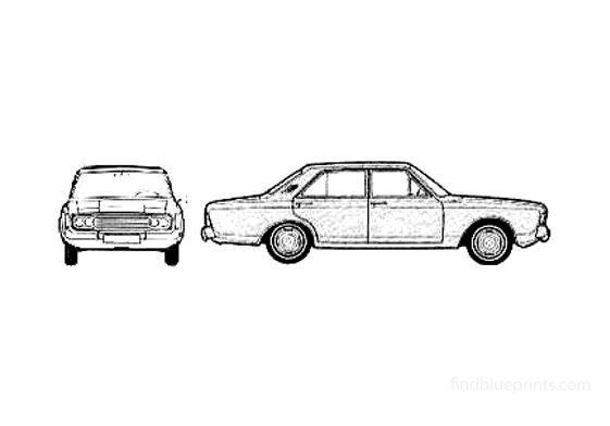 Ford Taunus 26M (P7B) Sedan 1970
