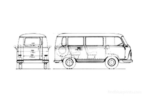 Ford Taunus FK Minibus Bus 1964