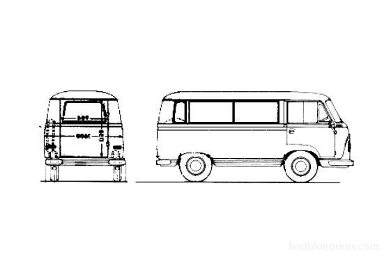 Ford Taunus Transit FK 1000 Kleinbus Spezial Bus 1962