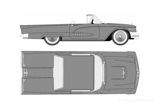 Ford Thunderbird Convertible Cabriolet 1958