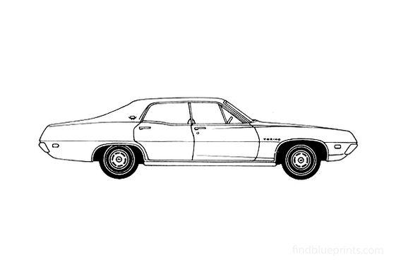 Ford Torino Brougham Hard Top Sedan 1970