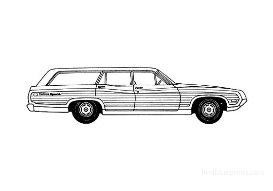 Ford Torino Brougham Squire Wagon 1970