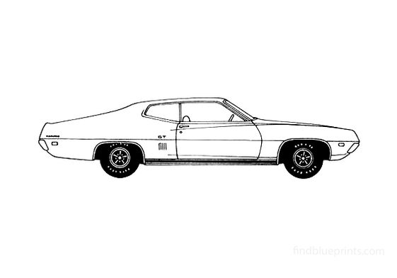 Ford Torino GT 2-door Sportroof Coupe 1970