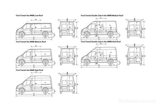 Ford Transit 120 MWB Van 2008