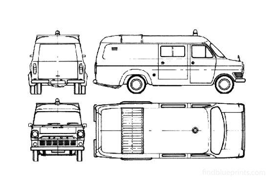 Ford Transit 1300 Fire Van 1965