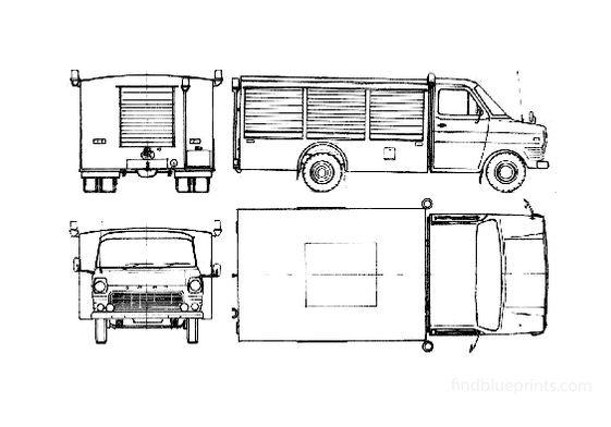 Ford Transit 160 Fire Truck 1964