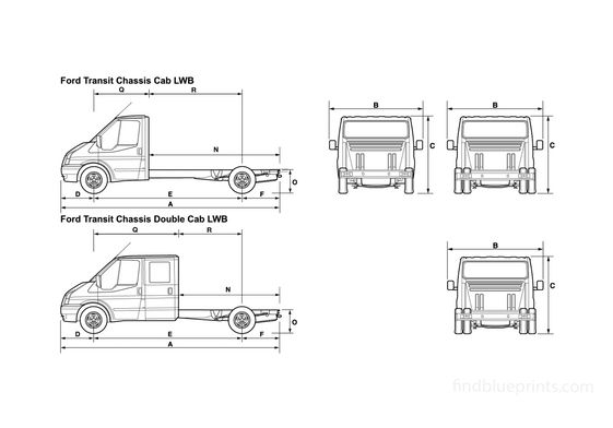 Ford Transit Chassis Cab LWB Truck 2008