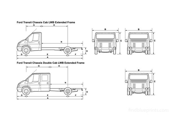 Ford Transit Chassis Cab LWB Extended Frame Truck 2008