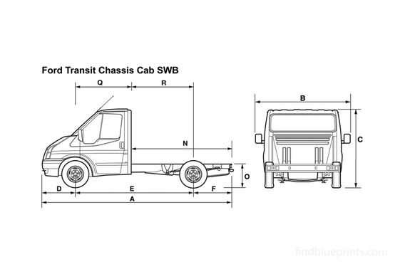 Ford Transit Chassis Cab SWB Truck 2008