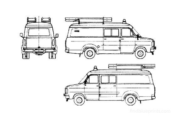 Ford Transit Fire Van 1979