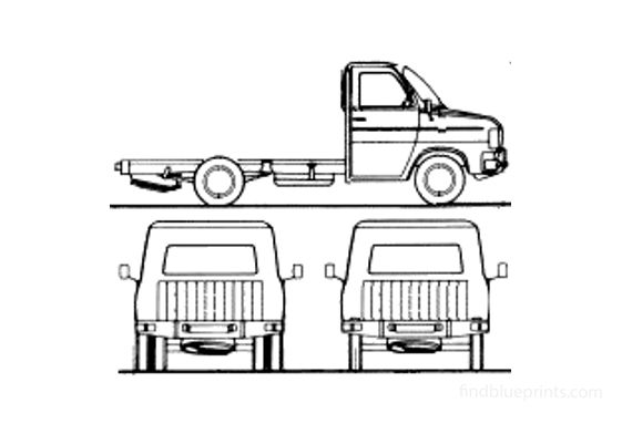 Ford Transit SIA Chassis LWB Truck 1981