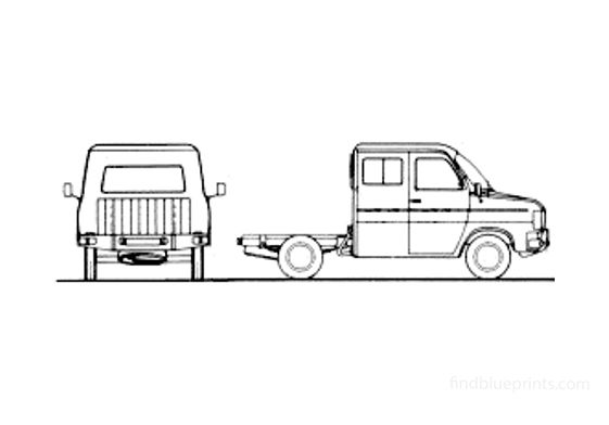 Ford Transit SIA Chassis SWB Twin Cab Truck 1981