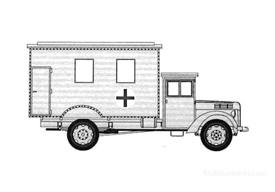 Ford V3000 Ambulance Einheits Van
