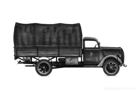 Ford V3000 G918 4x2 Truck 1939
