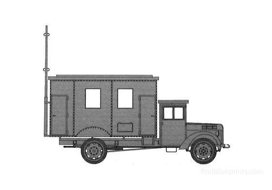Ford V3000 Radiowagen Einheits Van