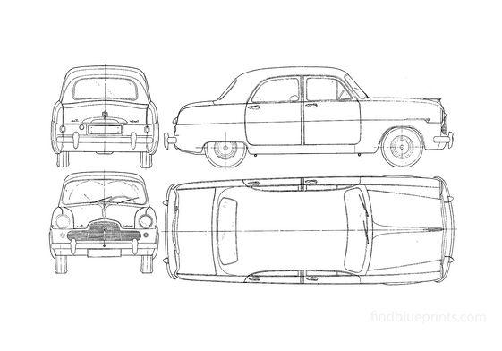 Ford Zephyr Sedan 1953