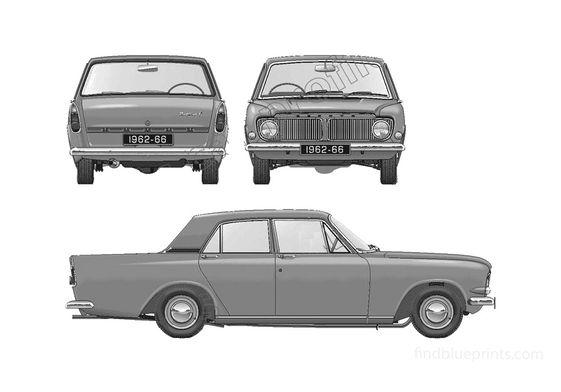 Ford Zephyr 6 Mk III Sedan 1962