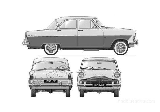 Ford Zodiac Mk II 206E Sedan 1959