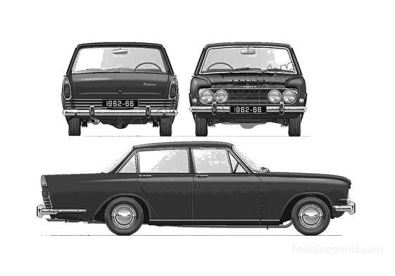 Ford Zodiac Mk III Sedan 1962