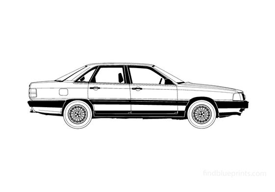 Audi 100 C3 Sedan 1986