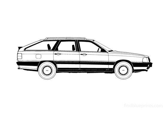 Audi 100 C3 Avant Wagon 1986