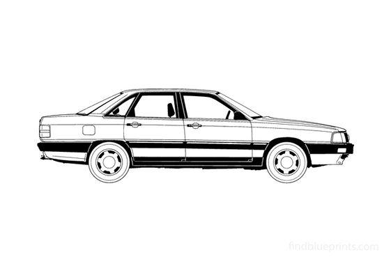 Audi 200 C3 Sedan 1986